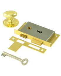 Cabinet LH Door Latch Lock 3 1/2""