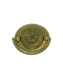 """Oval Plate Handle 2 3/8"""" Bore"""