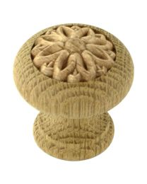 Decorative Wooden Knob 1 9/16""