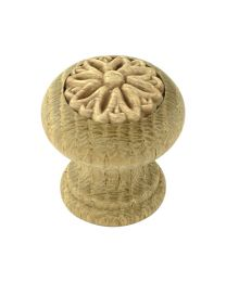 Decorative Wooden Knob 1 3/16""