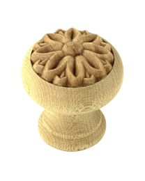 Decorative Wooden Knob 1 5/16""