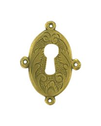 Oval Chased Escutcheon