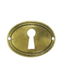 Oval Rope Edge Escutcheon Horizontal