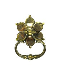 Large Floral Ring Handle